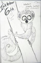 Inktober 6th- Western Woolly Lemur by Zahzumafoo