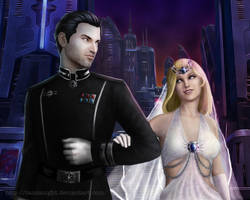 SWTOR: Quinn + Warrior Wedding by Tanzanight