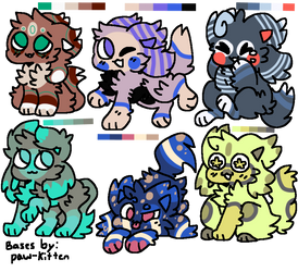 Cheap Kittydog Adopts! {4/6 OPEN} by XSilentStatic