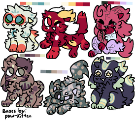 Cheap Kittydog Adopts! {5/6 OPEN} by XSilentStatic