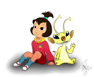 Request: Ai and Sparky by JWolf-97