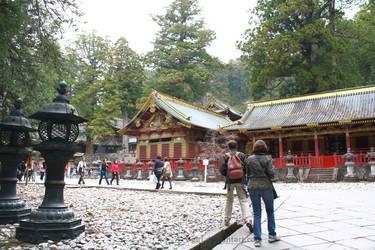 The Courtyard at Nikko Toshogu Shrine by Fairytwister