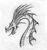 Dragon head by Abydell