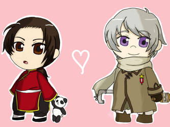APH - China and Russia Colored by chocolatkeroppi