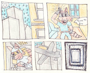 Raccoon Plane Comic by Siluntwolf