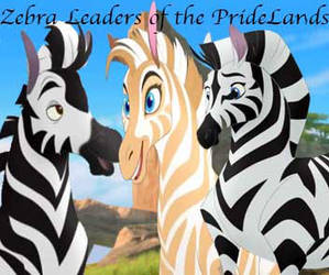 Zebra Leaders of the Pridelands by Siluntwolf