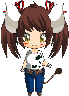 Sukimi the cow-girl (chibi) by SRicher