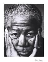 Morgan Freeman by emmaxmaree