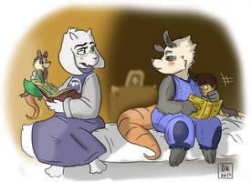 Poppy and Toriel storytime by AstronautDK
