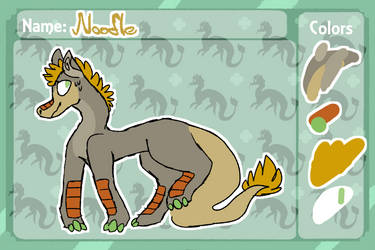 Noodle ref sheet by rosythefoxluv