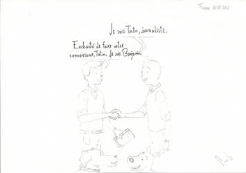 Benjamin and Tintin by Woodpeckery