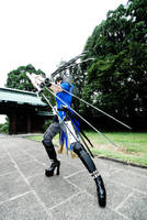 Fight with six swords by abeyasuakisama