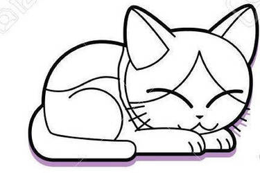 Sunny Cat colouring pages for children by PekerSweet