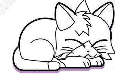 Happy Cat colouring pages for children by PekerSweet