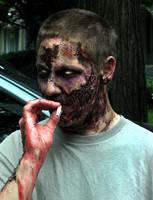 Zombie Smoke Break by gwarmor13
