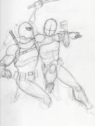 Deadpool vs Deathstroke (unfinished) by DoYouHaveYourTowel42