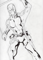 Deadpool - Inks, Stage 1 by DoYouHaveYourTowel42