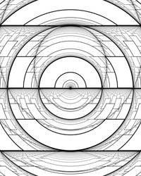 Harmonic Perspective Moire Ellipses by Hop41