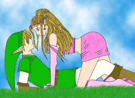 Zelda and Link by ZeldaPrincess
