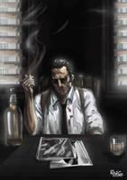 COMISSION : CafeNoir  - Brun V2 by RedGeOrb