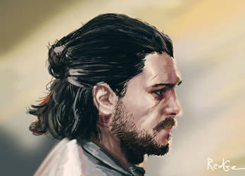Jon Snow Fan art - Speed Painting by RedGeOrb