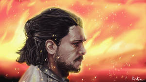 Jon Snow - Fan Art by RedGeOrb