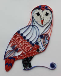 Quilled barn owl by zoofelted