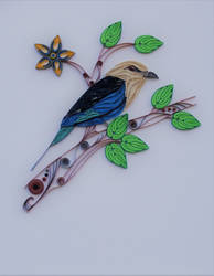 Quilled blue bellied roller by zoofelted