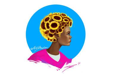 Sunflower Afro by ArtofStreet