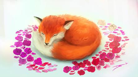 Sleeping Fox by ArtofStreet