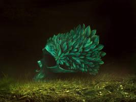 the Green Skull by ArtofStreet