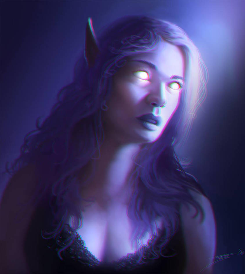 Lady Night Elf by ArtofStreet