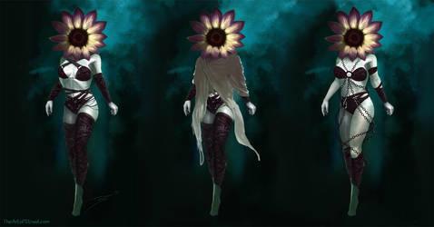 Sunflower Character Design by ArtofStreet