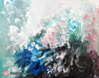 Snow and Turquoise by maiji