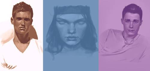 More portrait studies by PPR88