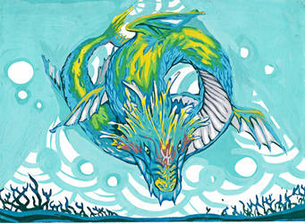 Sea Serpent Dragon by pratehet