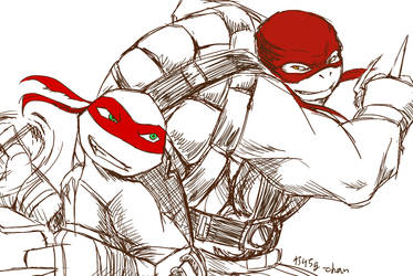 Nick and Shadows  Raph by onegiman
