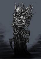 Techno Priest by Trollfeetwalker