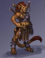 Fantasy Fighter by Trollfeetwalker