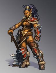She-Orc by Trollfeetwalker
