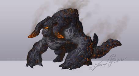 Lava Monster by Trollfeetwalker