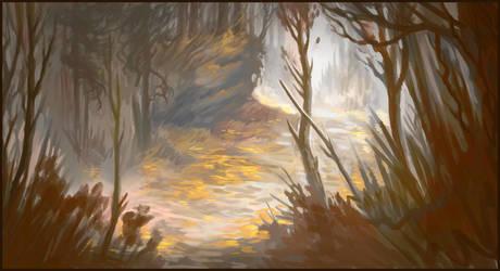 Autumn Woods by Trollfeetwalker