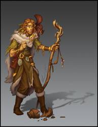 Human Druid by Trollfeetwalker