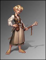Halfling Wizard by Trollfeetwalker