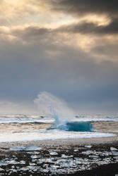Sunset Iceberg by whitestm