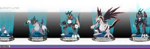 DWC2012: Dynamon Complete Evolution Chart by seiryuuden