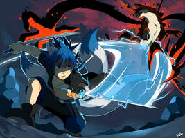 Commission: Kaito vs Jace by seiryuuden