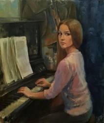 In an artist's workshop by NastyaPronina