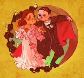 Phantom of the Opera Card by Barukurii
