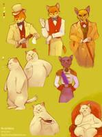 'The Cat Returns' Kitties by Barukurii